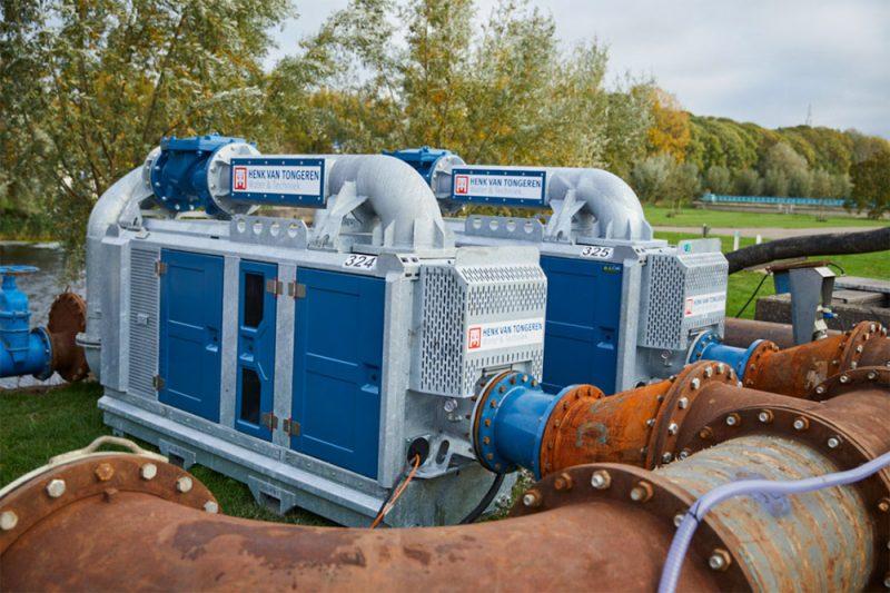 Tijdelijke pompinstallaties voor het Waterschap Hunze en Aa's